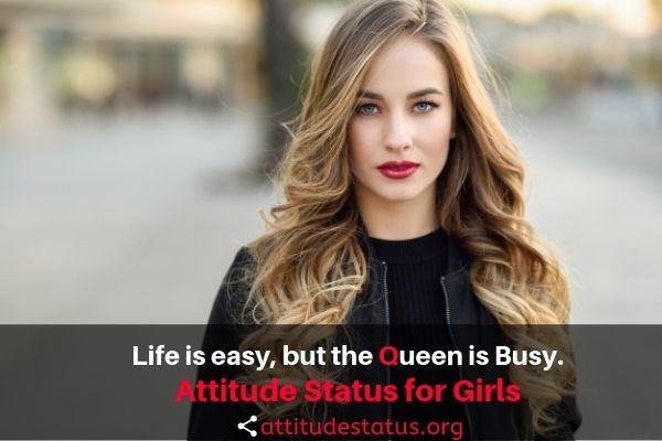 Best Attitude Status for Girls in English 2019 Girly