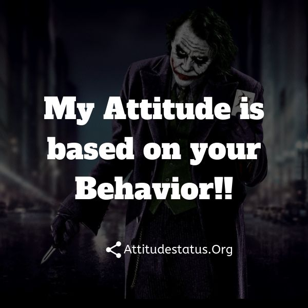 attitude status about people behavior