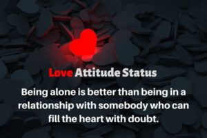 Best Love attitude status in english