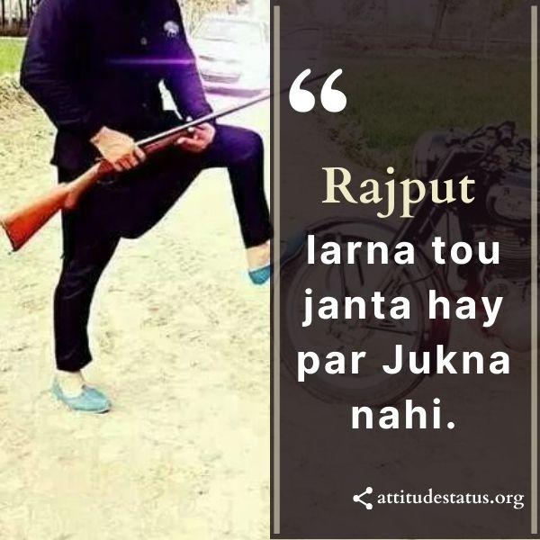 Rajpoot Attitude Status Punjabi Hindi