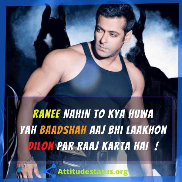 Salman khan khtarnaak attitude lines for dp