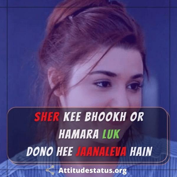 Killer status in hindi for girls