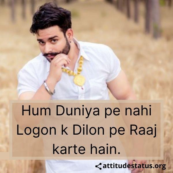 Best Jaat Attitude Status about hum duniya pe nahi