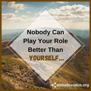 Yourself attitude quote status image for whatsapp