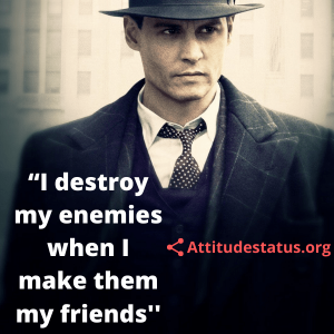 Positive Attitude caption about enemies