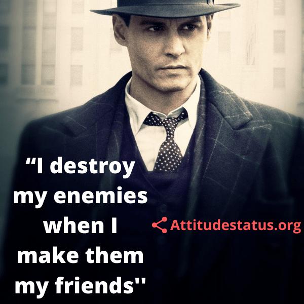 Positive Attitude caption about enemies