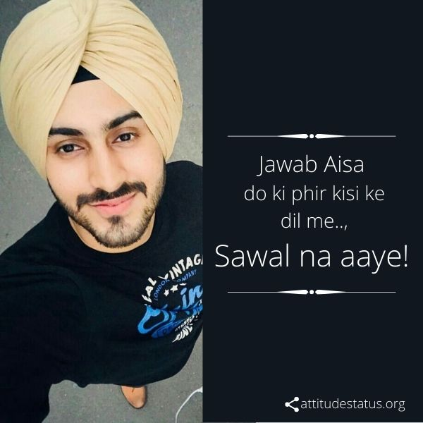 Best Jaat Attitude quotes for girls and boys about jawab asy do
