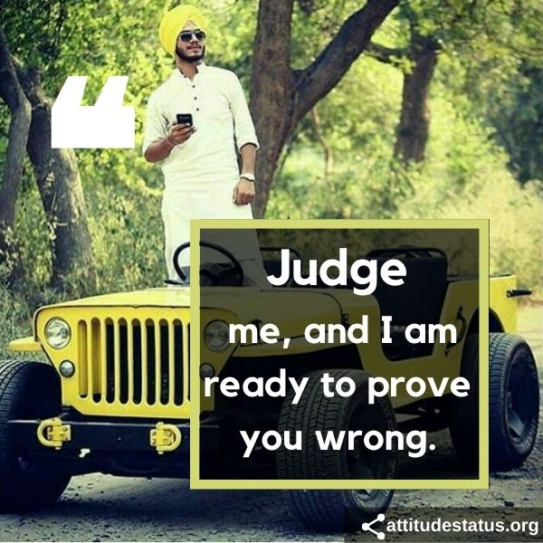 Best Jaat Attitude Status in English about judge me