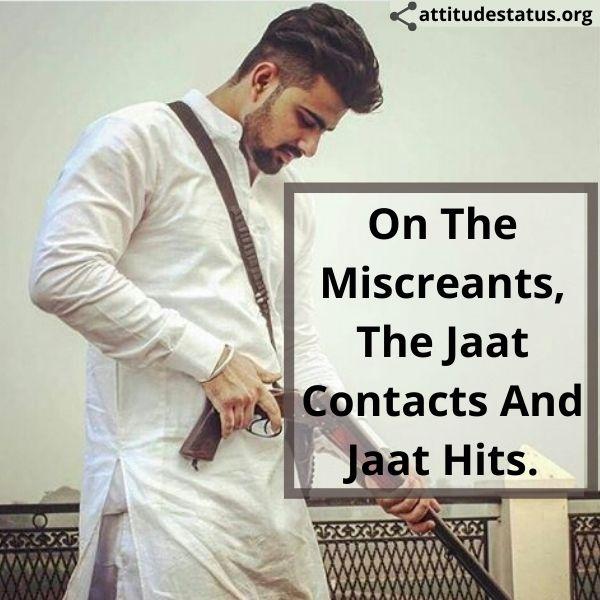 Best Jaat Attitude Status in english image