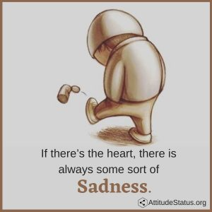 Sad lines in English about sadness