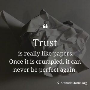 Trust broken status and quotes