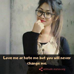 attitude girl pic hd: Love Hate