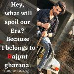 Rajput attitude status in english
