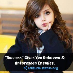 Success Fancy girls attitude quotes