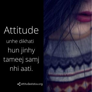 Best Girls Attitude dp status urdu