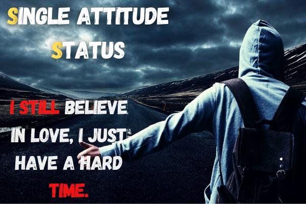 Single attitude status in english