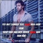 Hindi Shayari photo with attitude look