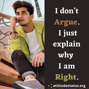 Argue quotes on attitude