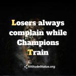 Champions attitude status for boys
