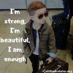 Im strong attitude captions for boys