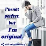 Attitude status for men about being Perfect