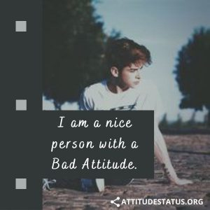 Bad Attitude Quote and Captions