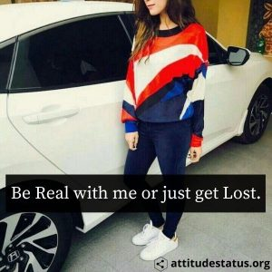 be real attitude status for girls