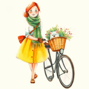 cycle girl dp
