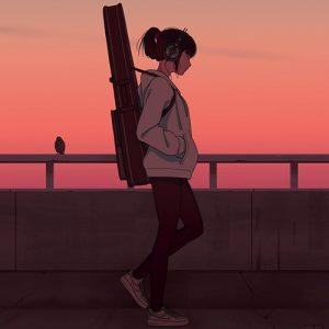 girl walking in evening dps