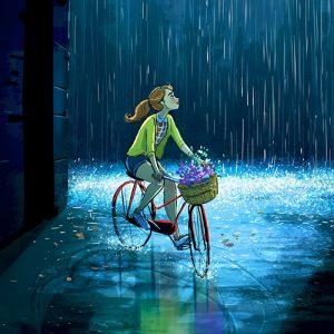 girl on cycle dp