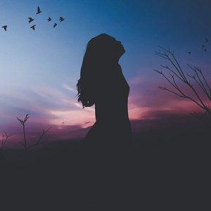 Girl watching sky
