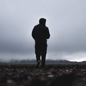 Man walking on mountain dpz