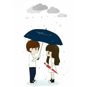 boy girl in rain dp