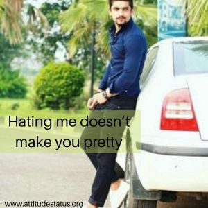 Hate me selfie attitude caption for pic