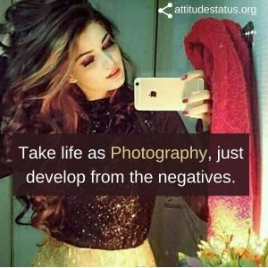 Selfie Captions on attitude for girls