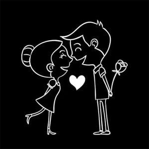 black background love couple image